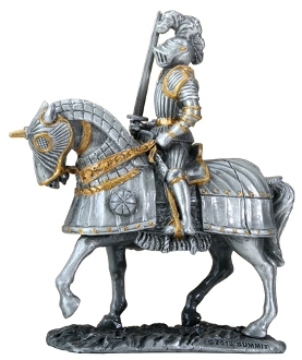 Noble Knight on Horseback Statue
