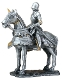 Gothic Knight on Horseback Statue