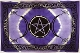 Purple Triple Moon Pentagram Tapestry