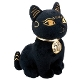 Egyptian Smaller Black and Gold Bastet Plush