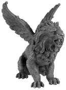 Medieval Winged Lion Gargoyle Statue