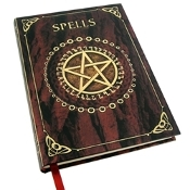 Pentacle Embossed Red Spell Book