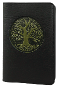 Black Leather Tree of Life Journal
