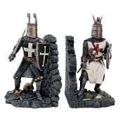CRUSADER KNIGHTS BOOKEND SET